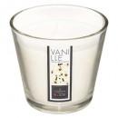 bougie parfumées verre vanil nina 190g, blanc