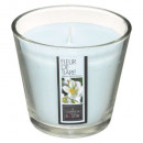 scented candle glass fl tia nina 190g, light blue