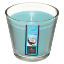scented candle coconut glass nina 190g, blue