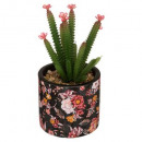 gypsy ceramic cactus h22, 2- times assorted , mult