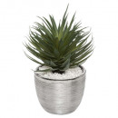 succulent ceramic pot shine h27, gray