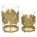 set x2 metal candle holder genko, 2- times assorte