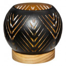 wooden-based led ball candle holder, 2- times asso