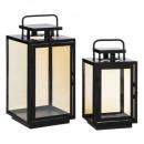 wholesale Wind Lights & Lanterns: set x2 lantern amber max h40, black