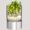 glass plant pot + led h15, 2- times assorted , col