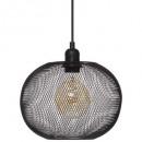 Lámpara colgante de bola de metal emie nr d25, neg