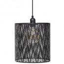 metalowa lampa wisząca COTA NR D24,5, czarna