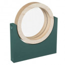 round arty wood mirror, 3- times assorted , colors