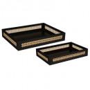 arty cane tray x2, zwart