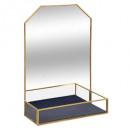 miroir metal verre feel, 2-fois assorti, multicolo