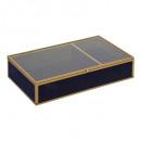gold glass jewelry box velvet mm feel, 2-times ass