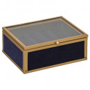 gold glass jewelry box velvet pm feel, 2-times ass