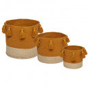 cesta de pompones gitanos x3, 2- veces surtido , c