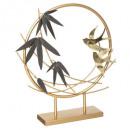 objet metal oiseau h36, or