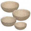 jute safari cup x4, 2- times assorted , colors