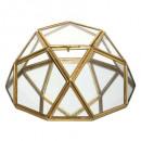 caja de metal cristal diamt gitana, oro