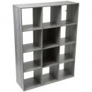 etagere 12 cases mix gris, gris