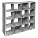 16 boxen plank mix grijs, grijs