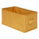 caja de almacenamiento 15x31 terciopelo amarillo,