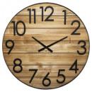 Reloj de madera / metal 3d d70 Abby , Castaño
