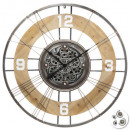 Meca Holz / Metall Uhr d90 Lana, mehrfarbig