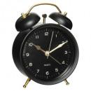 reloj despertador metal 9,7x13,5, 4- veces surtido