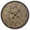 embossed metal clock d60, bronze