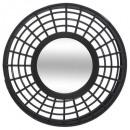 bamboe spiegel in reliëf D56, zwart