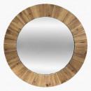 wood mirror d83, brown