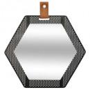 miroir metal hexa 30x34 mona, noir
