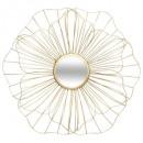 miroir metal fleur d56, or