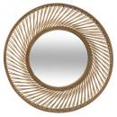 bambusz spirál tükör d72, barna