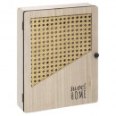 arty key box, beige