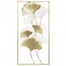 50x100 ginko fém fal dekoráció, arany