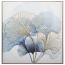 lienzo impreso / cad / re ginkgo 58x58, azul