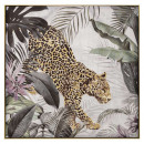 canvas pei / cad / foil leopard 102, multicolored