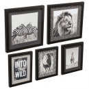 set of 5 savannah frames 54x50, black & white