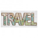 wholesale Wall Tattoos: relief travel sticker 14x38, multicolored