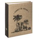 Großhandel Geschäftsausstattung: 250 ph Safari Stoff Album, mittelbeige