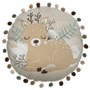 wholesale Home & Living: Pillow round doe print, multicolored