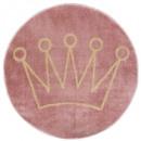 alfombra redonda con forma de corona de lurex, ros