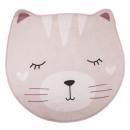 soft pink cat rug, pink