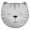 soft gray cat rug, gray