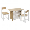table bins x4 + chair x2, beige