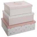 wholesale Household & Kitchen: storage box x 3 pink, pink