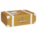wholesale Bags & Travel accessories: cardboard suitcase, ocher