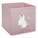 sequined unicorn tray, pink