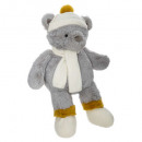 wholesale Dolls &Plush: plush bear winter h. 45 cm, gray