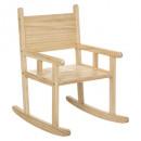 houten schommelstoel, medium beige