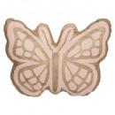 Cojín mariposa, rosa